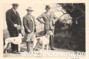 Filippo Rautiis con Ernesto Coppaloni alle prove di Bolgheri foto: Pointer del passato Pointerlucaniae.com