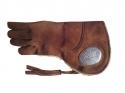 Falconry Nubuck leather glove with logo